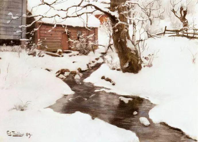 油画世界 挪威约翰·弗雷德里克风景油画插图11