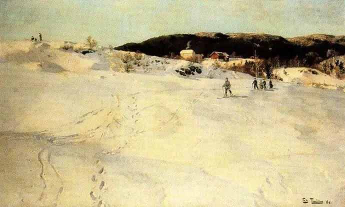 油画世界 挪威约翰·弗雷德里克风景油画插图22