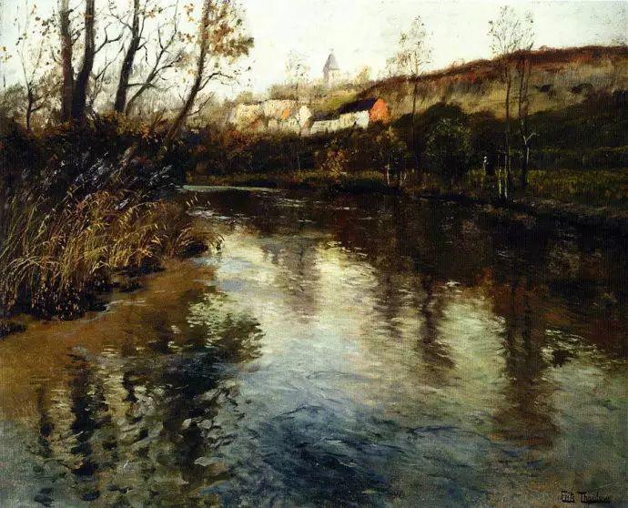 油画世界 挪威约翰·弗雷德里克风景油画插图26