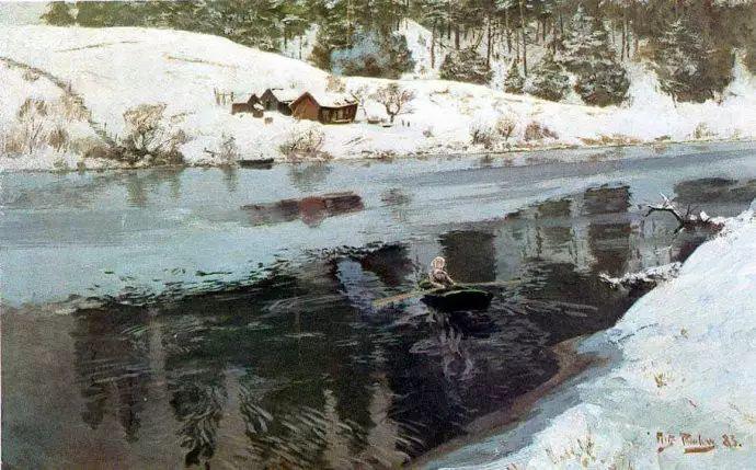 油画世界 挪威约翰·弗雷德里克风景油画插图30