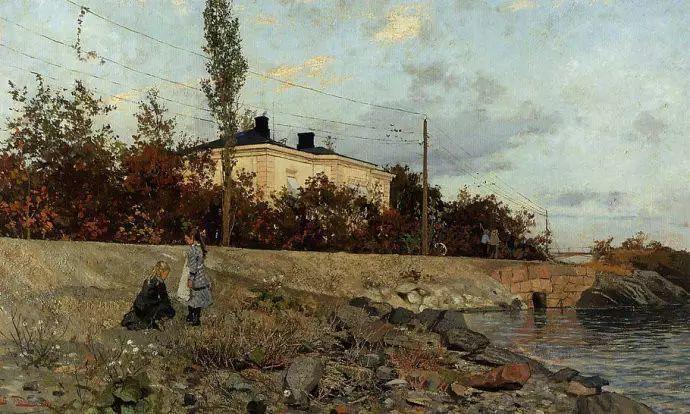 油画世界 挪威约翰·弗雷德里克风景油画插图36