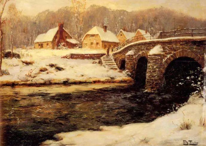 油画世界 挪威约翰·弗雷德里克风景油画插图38