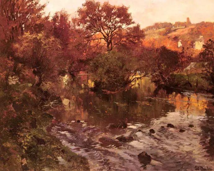 油画世界 挪威约翰·弗雷德里克风景油画插图40