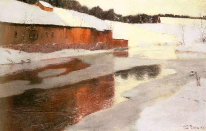 油画世界 挪威约翰·弗雷德里克风景油画插图42