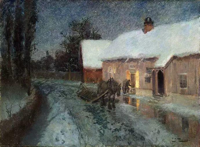 油画世界 挪威约翰·弗雷德里克风景油画插图44