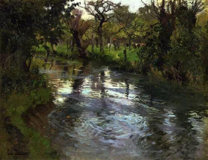 油画世界 挪威约翰·弗雷德里克风景油画插图48
