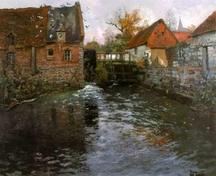 油画世界 挪威约翰·弗雷德里克风景油画插图52