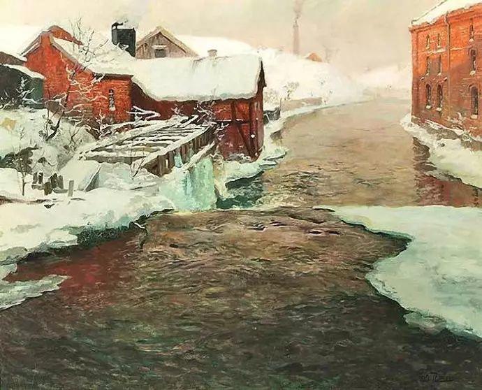 油画世界 挪威约翰·弗雷德里克风景油画插图58