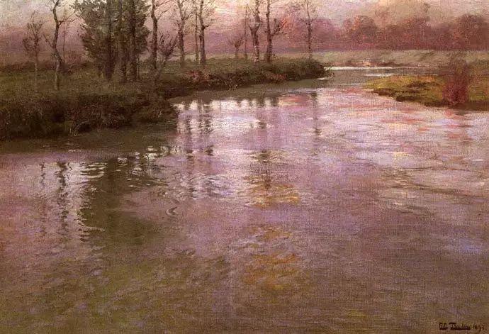 油画世界 挪威约翰·弗雷德里克风景油画插图64