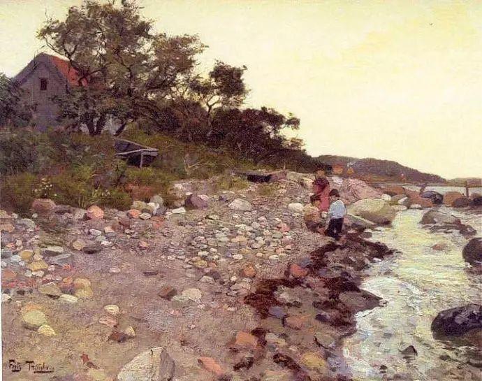 油画世界 挪威约翰·弗雷德里克风景油画插图68