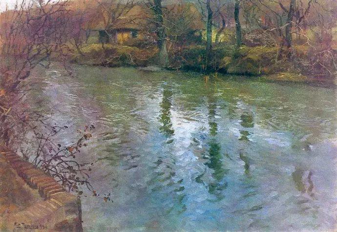 油画世界 挪威约翰·弗雷德里克风景油画插图86