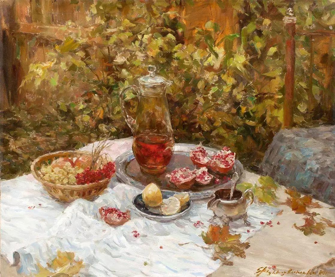 乌克兰谢尔盖·米克尔油画花卉作品插图3
