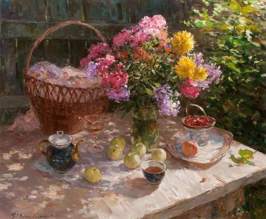 乌克兰谢尔盖·米克尔油画花卉作品插图5