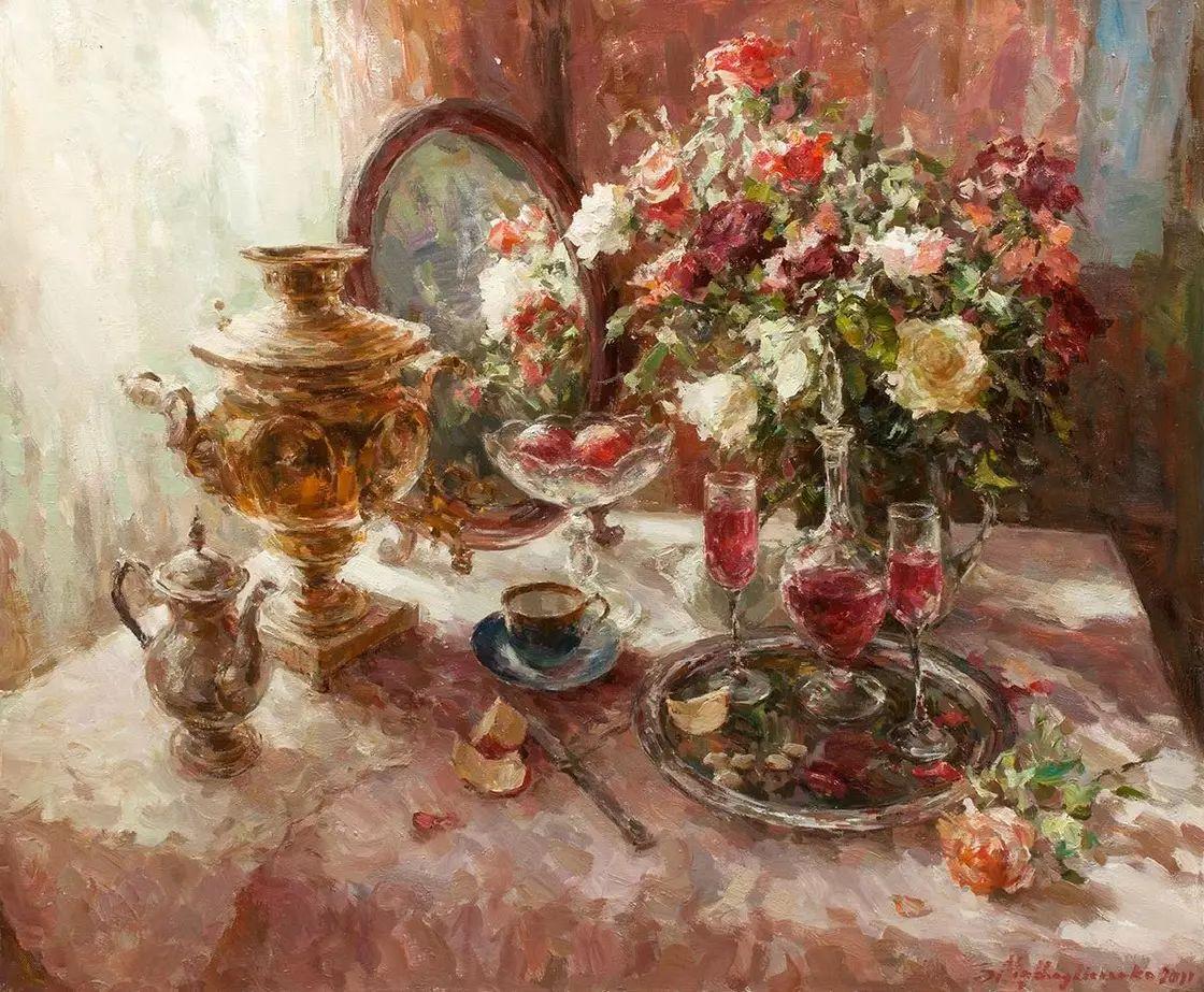 乌克兰谢尔盖·米克尔油画花卉作品插图7