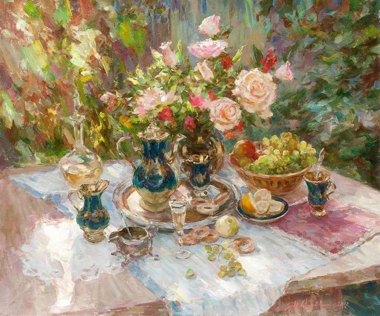 乌克兰谢尔盖·米克尔油画花卉作品插图9