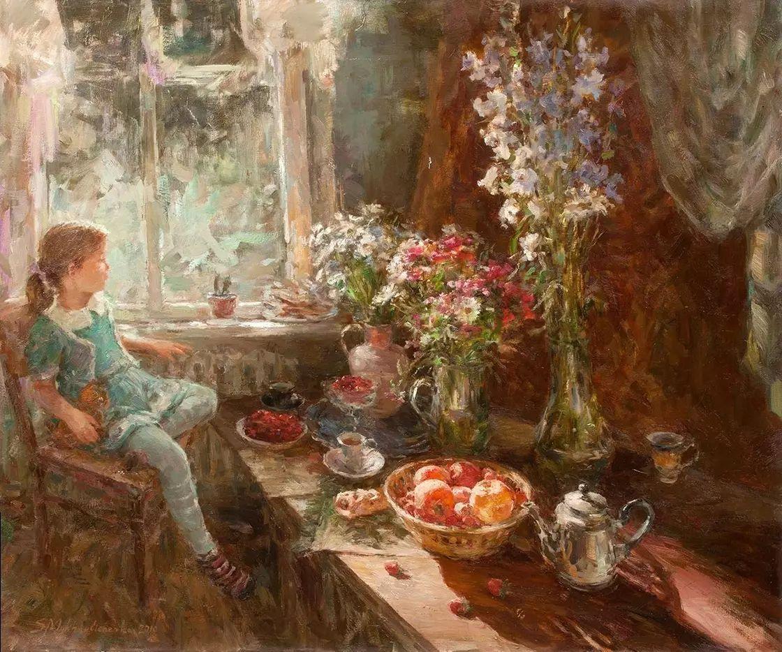 乌克兰谢尔盖·米克尔油画花卉作品插图11