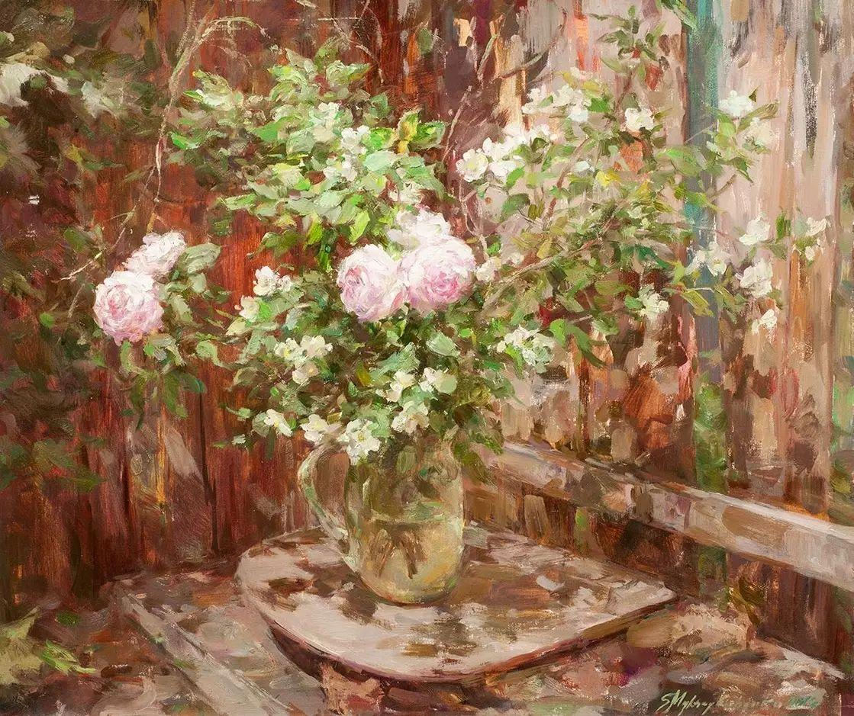 乌克兰谢尔盖·米克尔油画花卉作品插图15