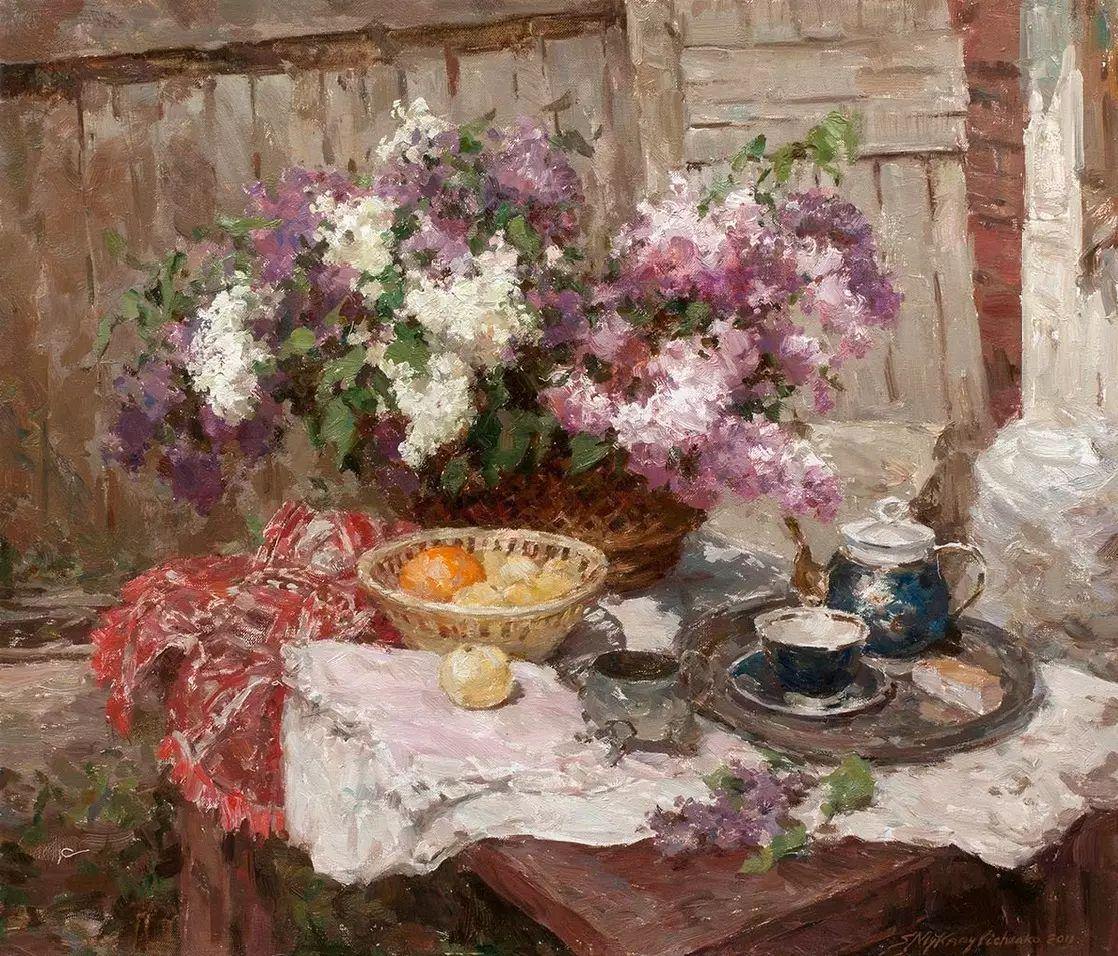 乌克兰谢尔盖·米克尔油画花卉作品插图17