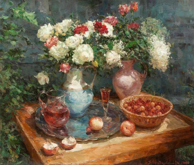 乌克兰谢尔盖·米克尔油画花卉作品插图19