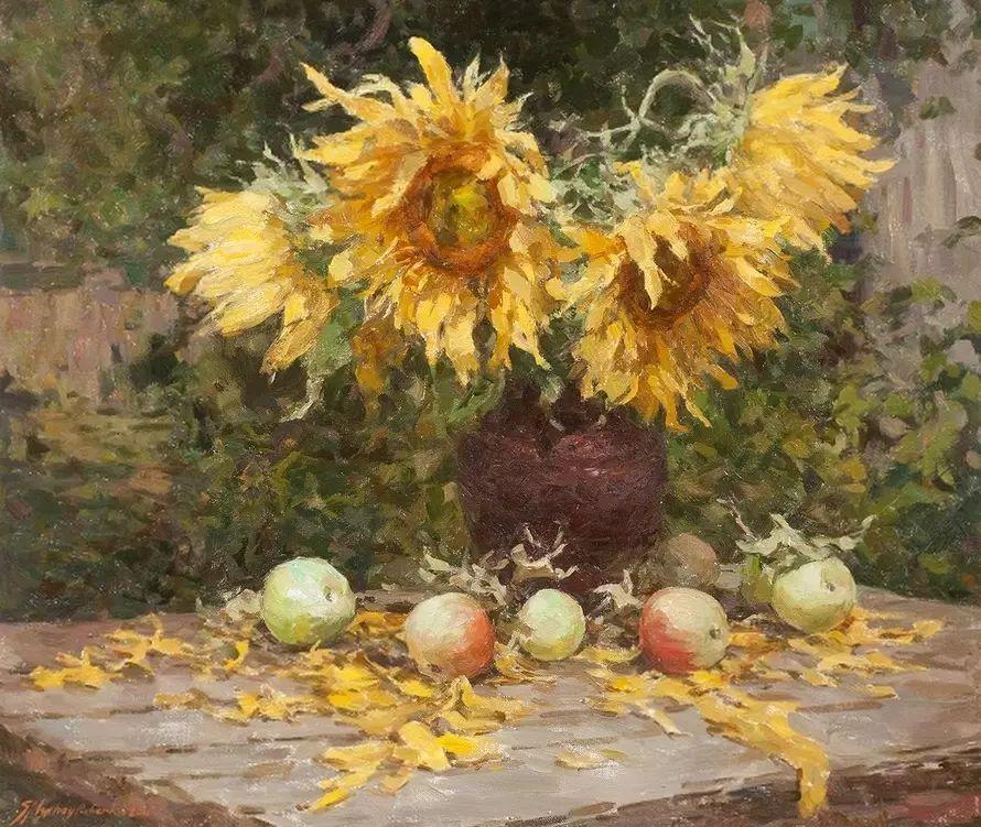 乌克兰谢尔盖·米克尔油画花卉作品插图23