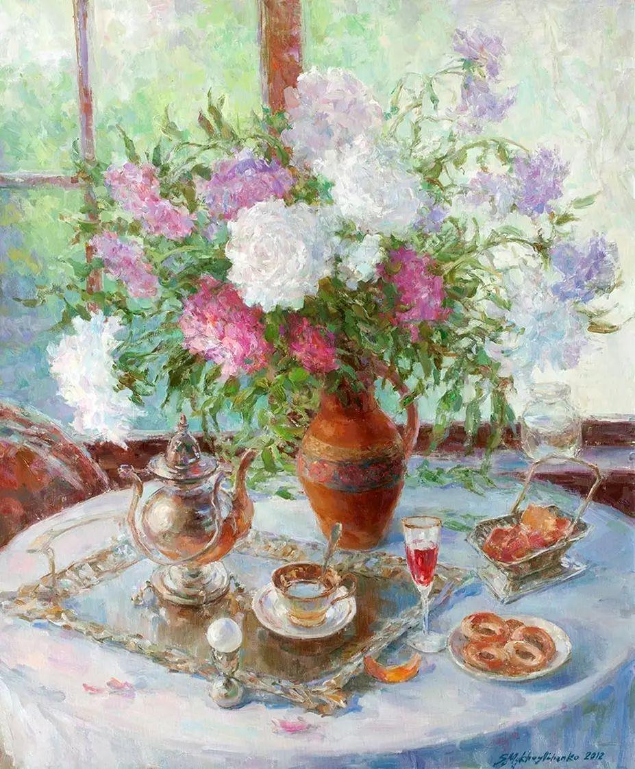乌克兰谢尔盖·米克尔油画花卉作品插图25