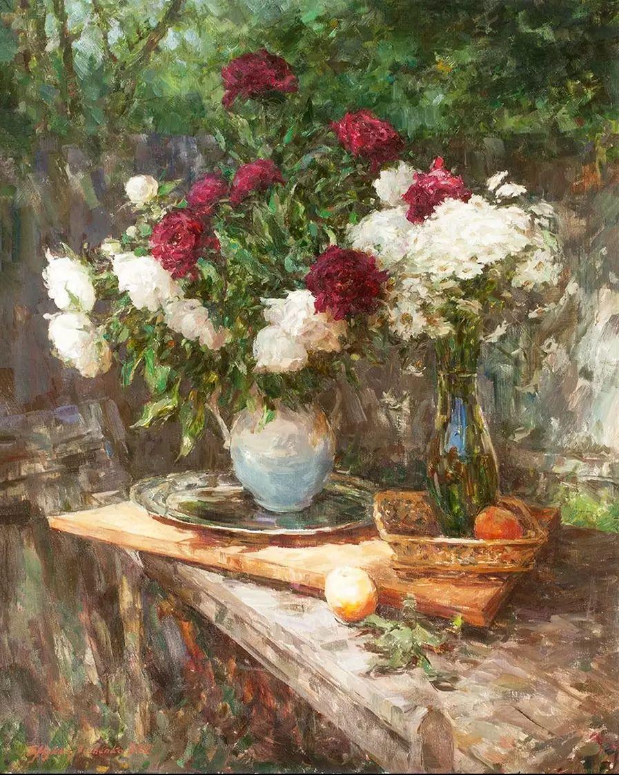 乌克兰谢尔盖·米克尔油画花卉作品插图27