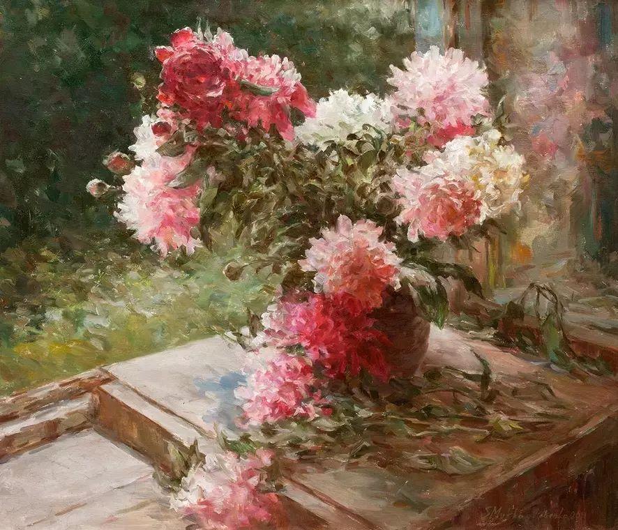 乌克兰谢尔盖·米克尔油画花卉作品插图29