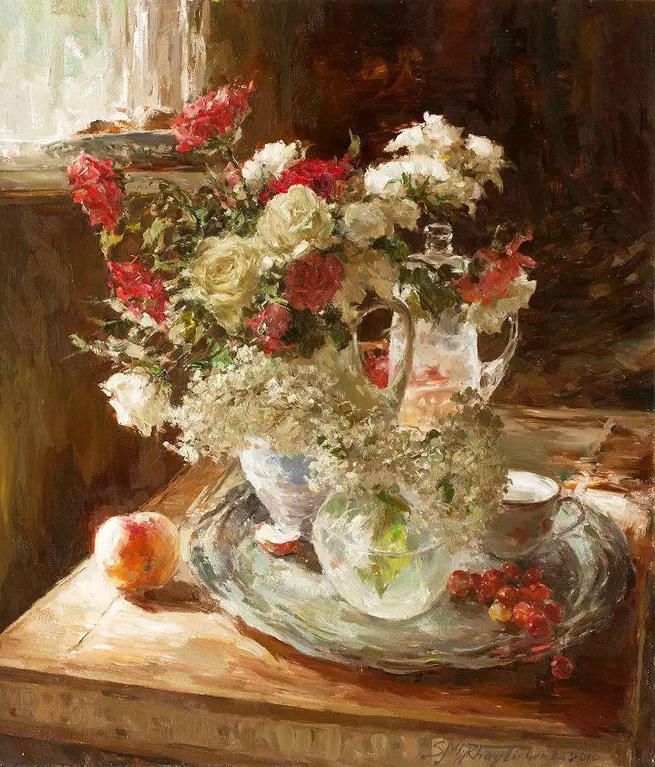 乌克兰谢尔盖·米克尔油画花卉作品插图31