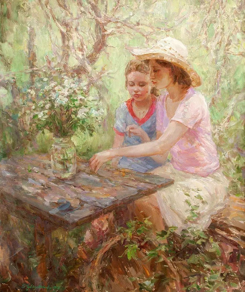 乌克兰谢尔盖·米克尔油画花卉作品插图35