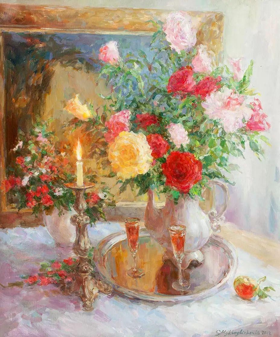 乌克兰谢尔盖·米克尔油画花卉作品插图37