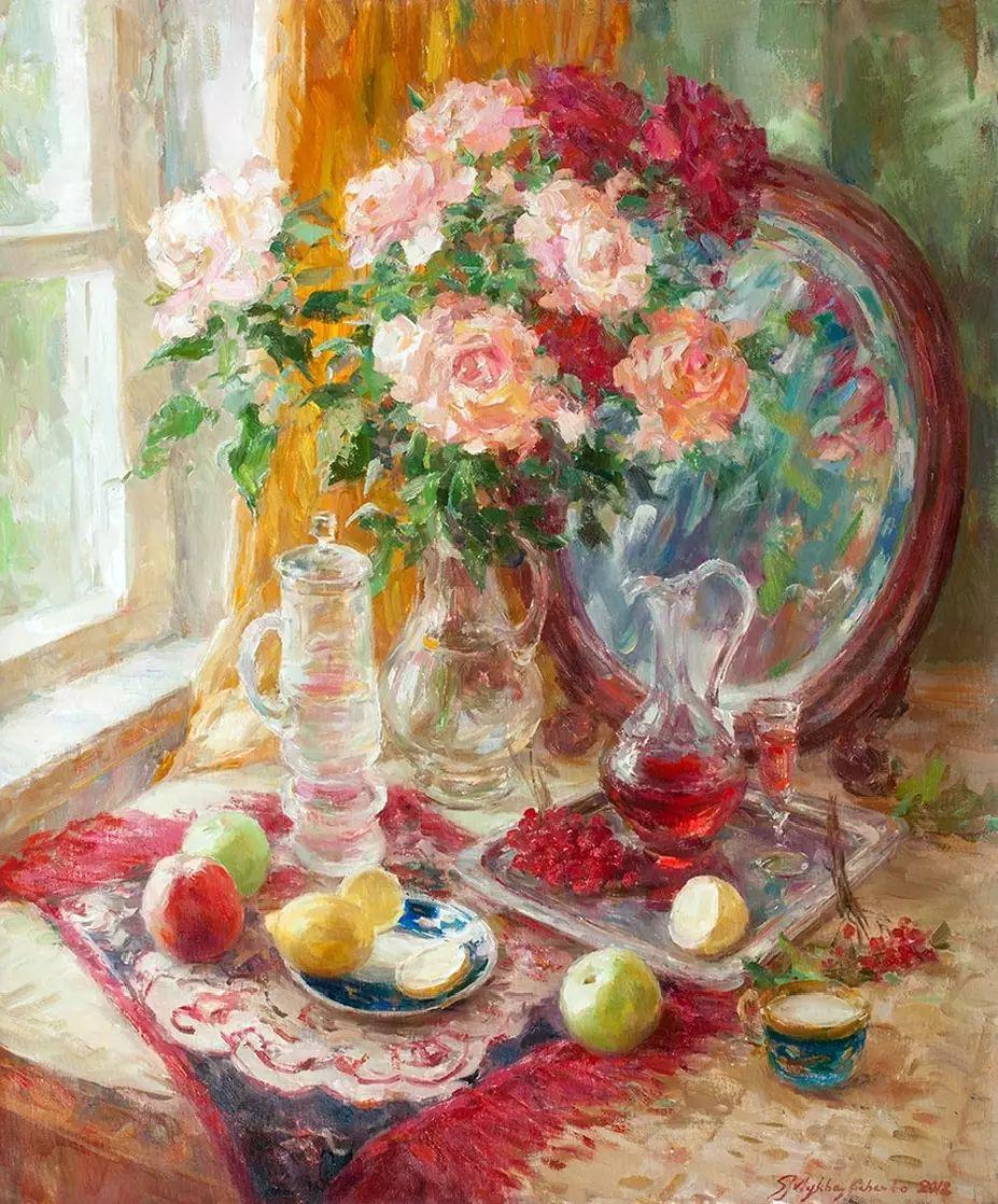 乌克兰谢尔盖·米克尔油画花卉作品插图39