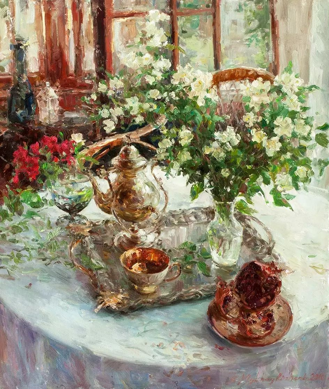 乌克兰谢尔盖·米克尔油画花卉作品插图41