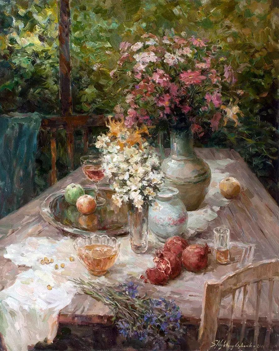 乌克兰谢尔盖·米克尔油画花卉作品插图43
