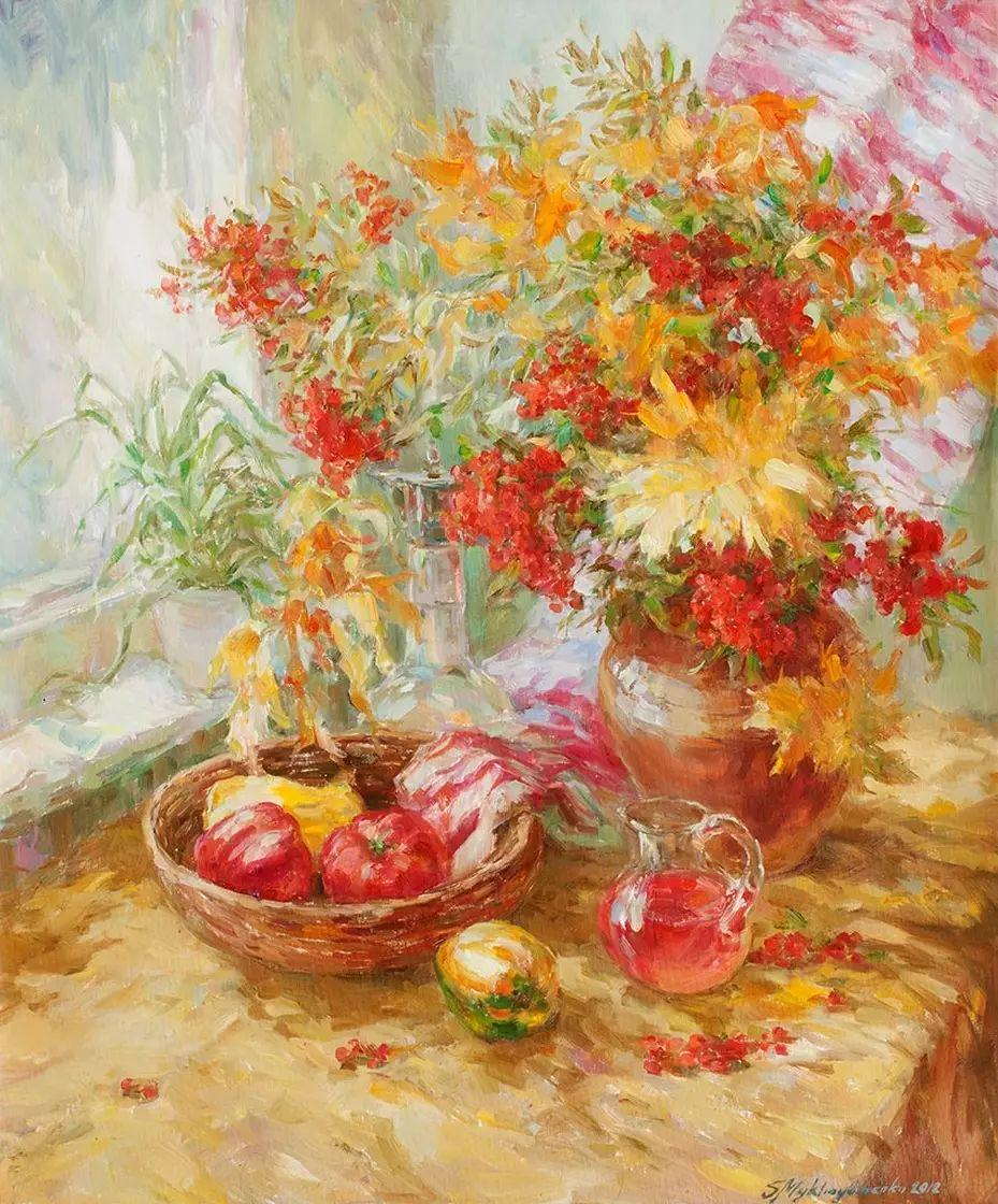 乌克兰谢尔盖·米克尔油画花卉作品插图45