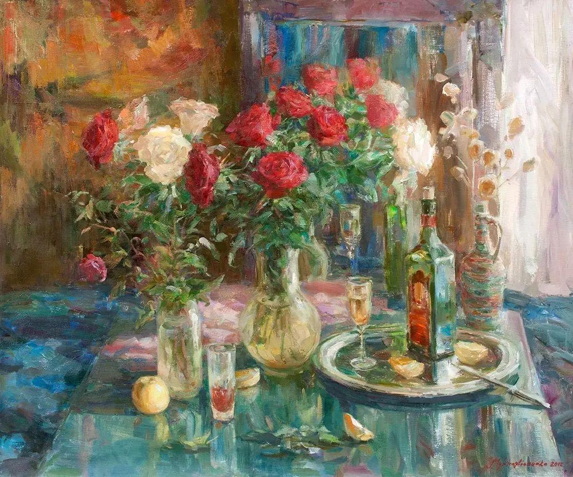 乌克兰谢尔盖·米克尔油画花卉作品插图47