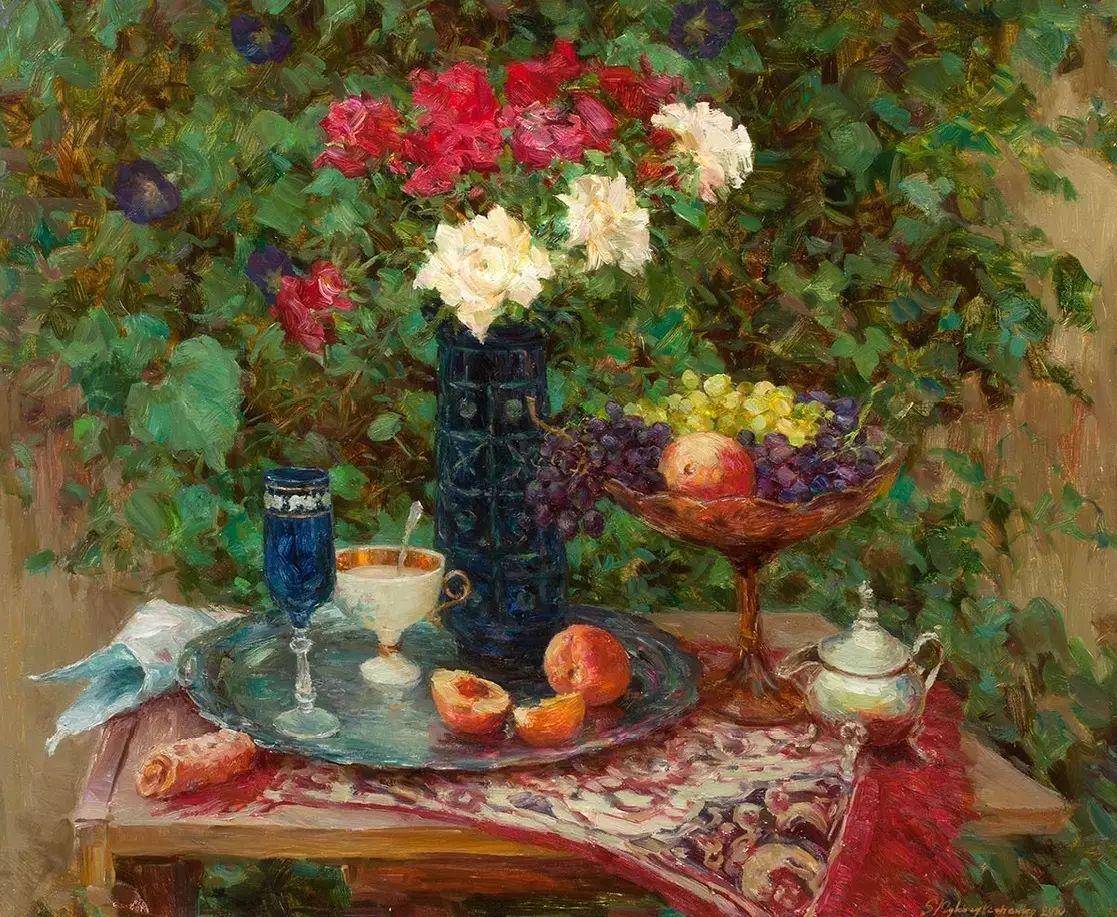 乌克兰谢尔盖·米克尔油画花卉作品插图49