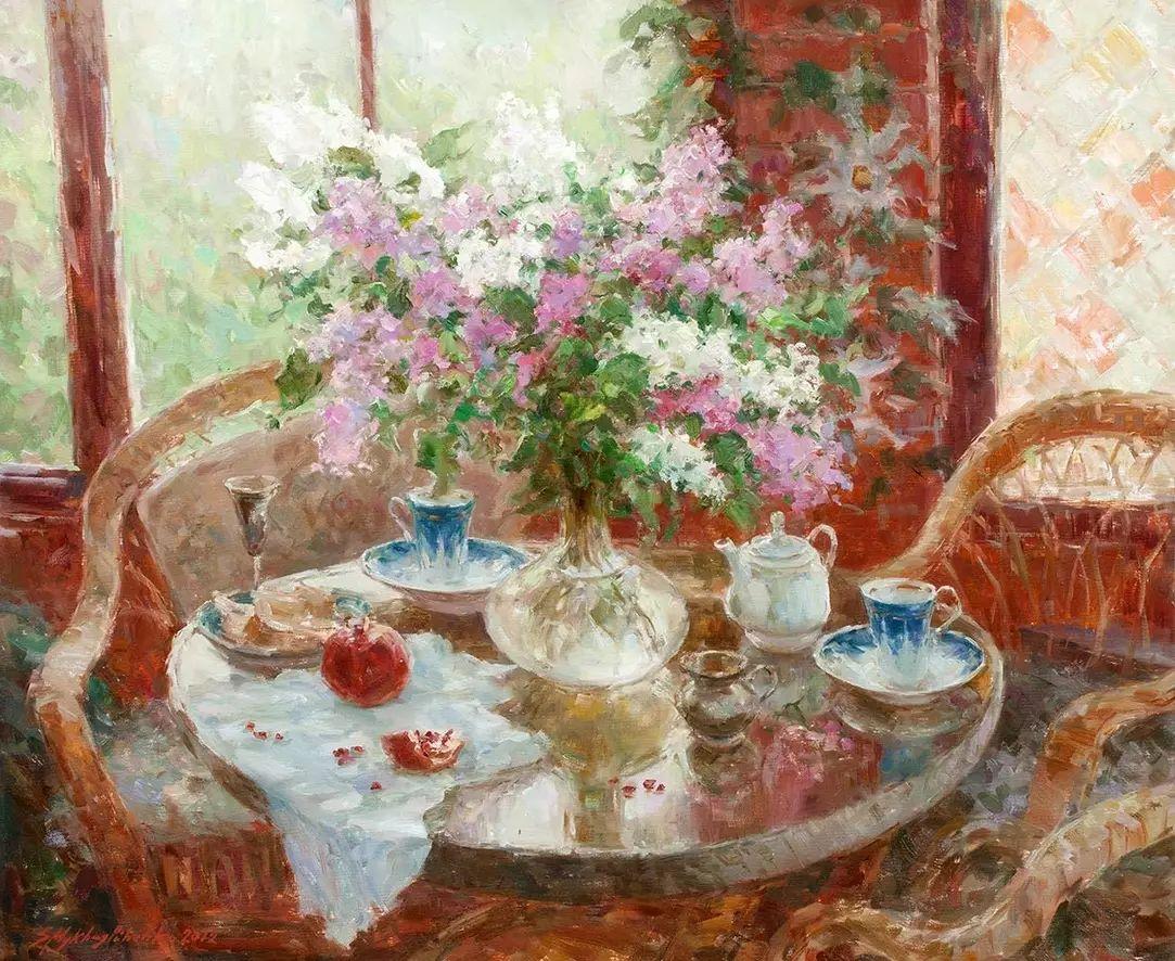 乌克兰谢尔盖·米克尔油画花卉作品插图51