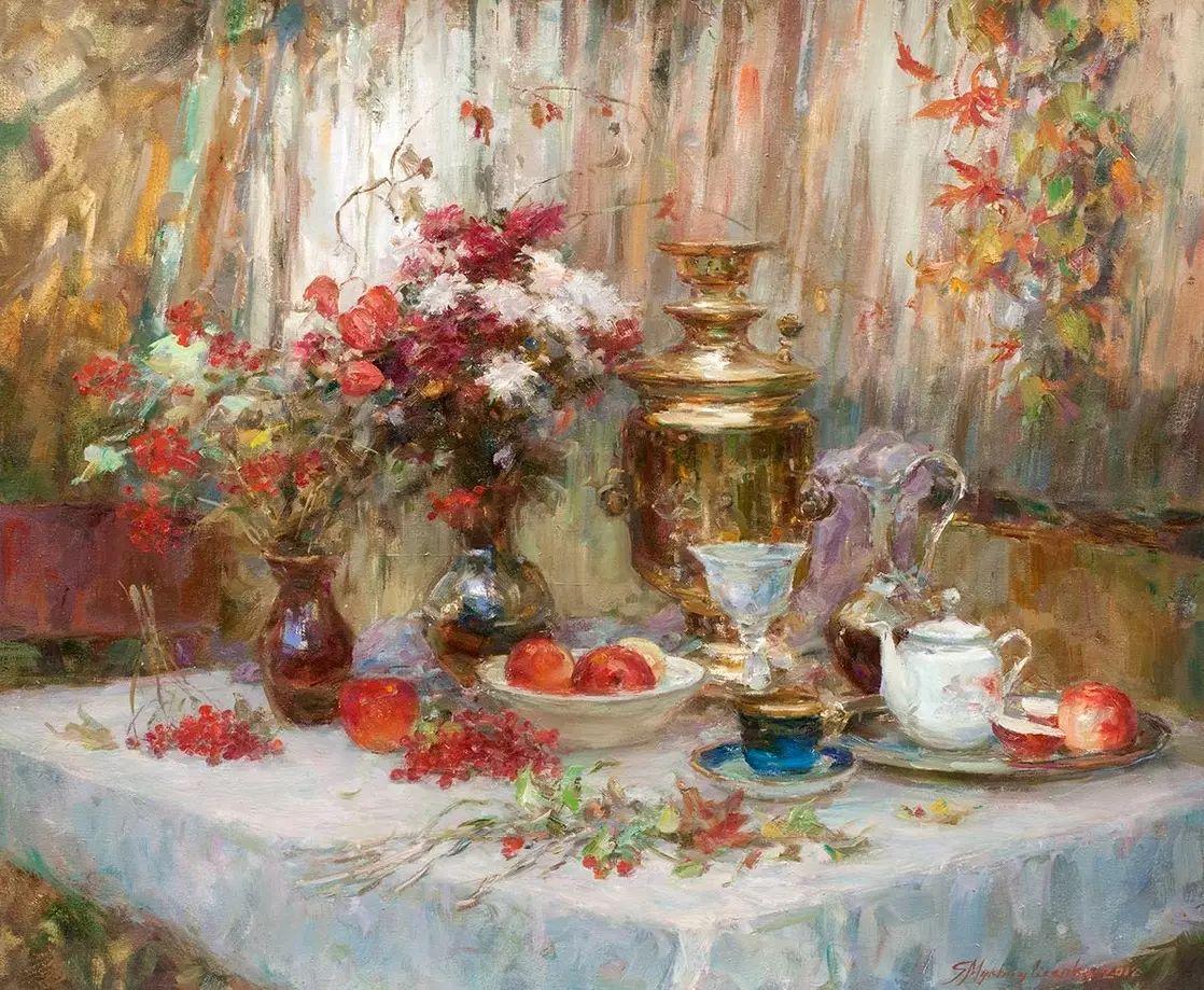 乌克兰谢尔盖·米克尔油画花卉作品插图55