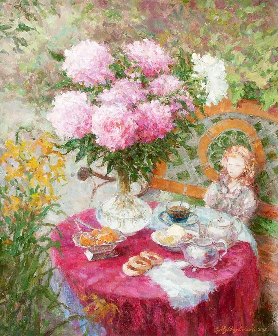 乌克兰谢尔盖·米克尔油画花卉作品插图57