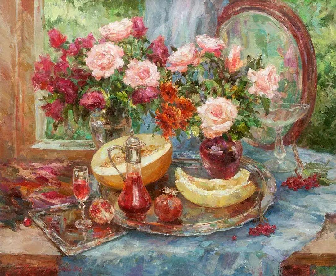 乌克兰谢尔盖·米克尔油画花卉作品插图59