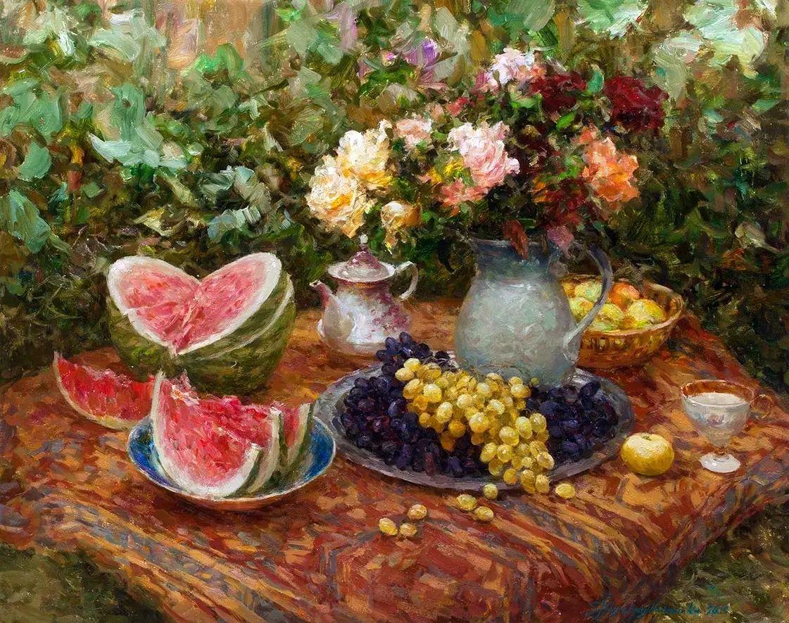 乌克兰谢尔盖·米克尔油画花卉作品插图61