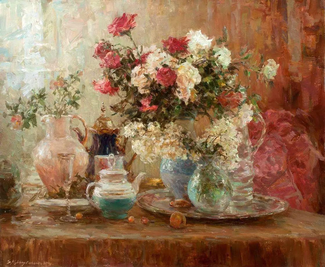 乌克兰谢尔盖·米克尔油画花卉作品插图65