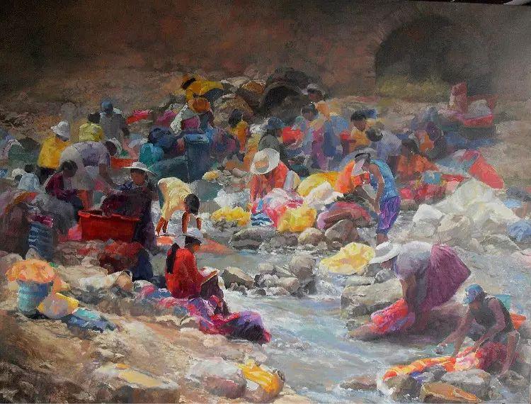 玻利维亚Remy Daza Rojas人物油画作品插图9