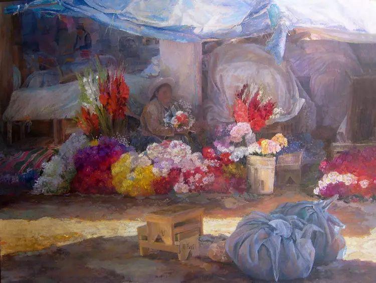 玻利维亚Remy Daza Rojas人物油画作品插图11