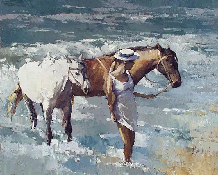俄罗斯Alexi Zaitsev人物油画欣赏插图39