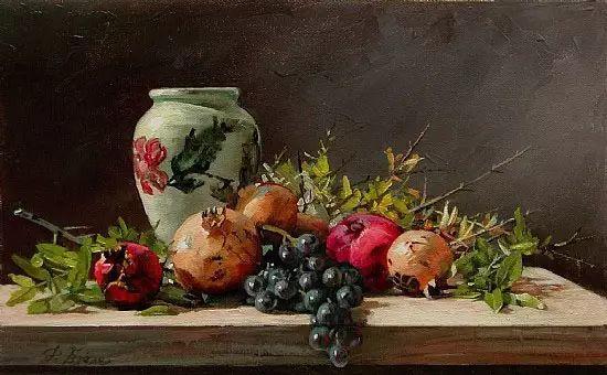 希腊Demetrios Vlachos油画静物欣赏插图9