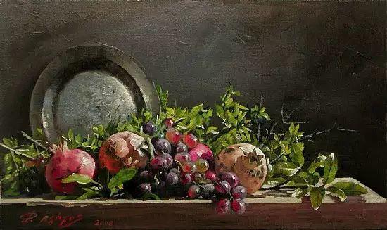 希腊Demetrios Vlachos油画静物欣赏插图11