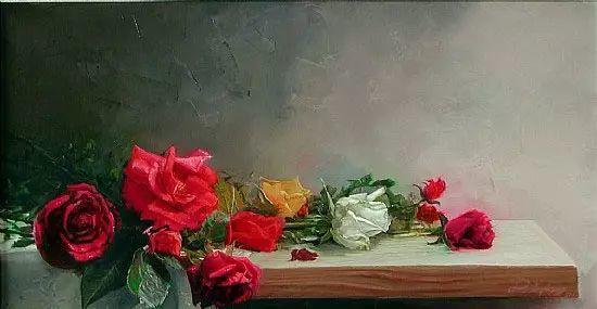 希腊Demetrios Vlachos油画静物欣赏插图21