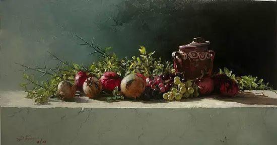希腊Demetrios Vlachos油画静物欣赏插图25