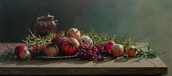 希腊Demetrios Vlachos油画静物欣赏插图31